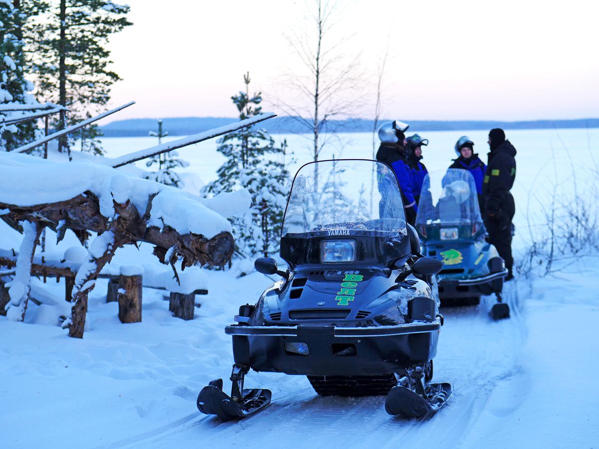 Снегоходы в Северной Карелии 011