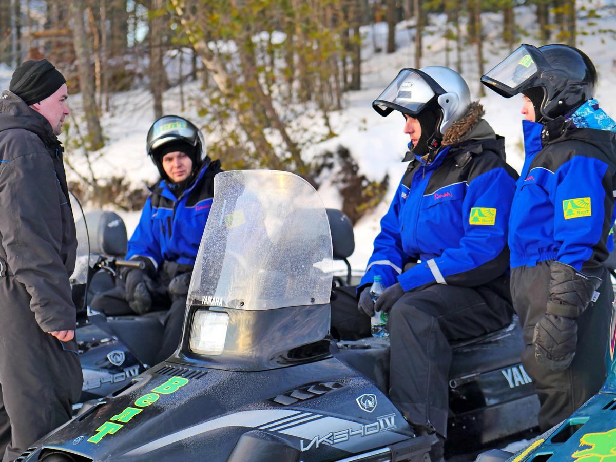 Снегоходы в Северной Карелии 04