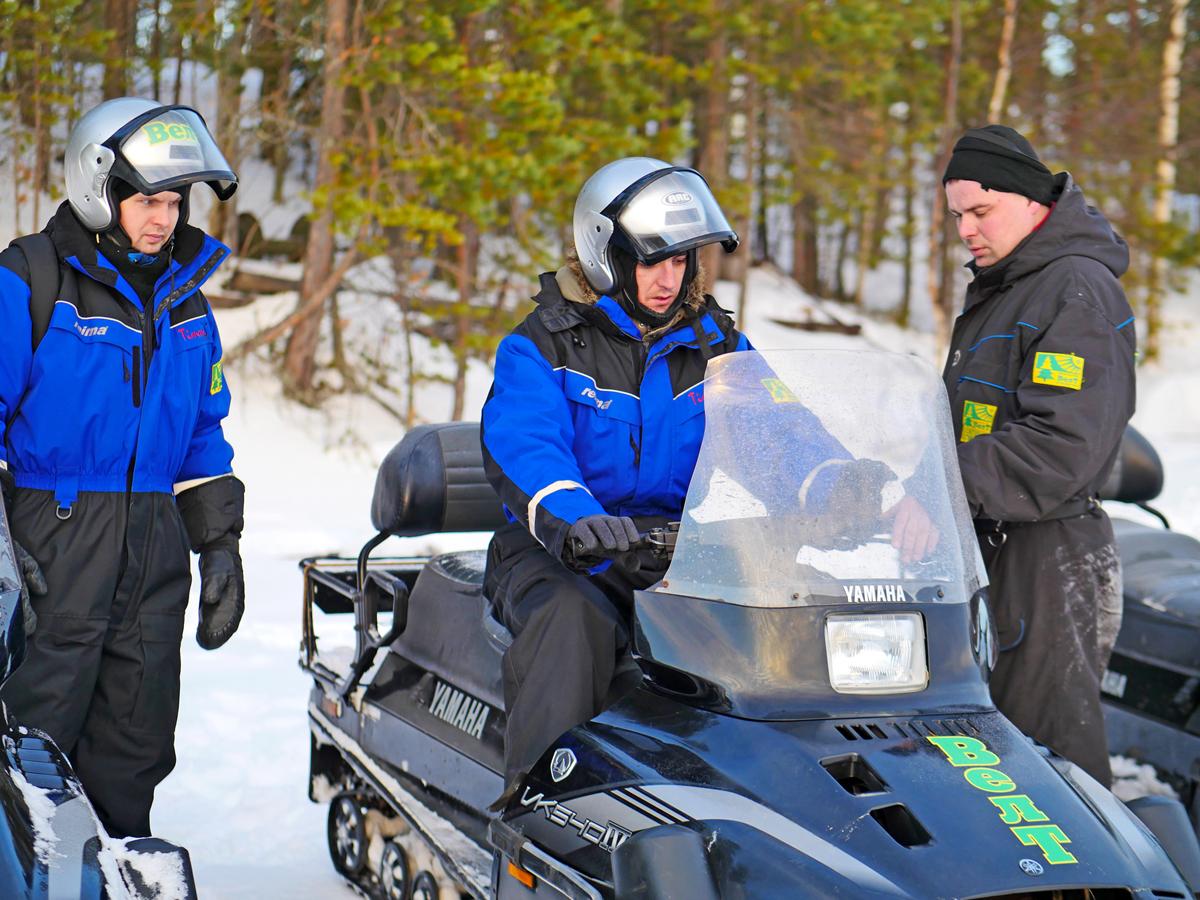 Снегоходы в Северной Карелии